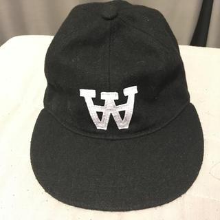 ウッドウッド(WOOD WOOD)のwoodwood キャップ 黒(キャップ)