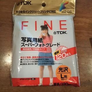 ティーディーケイ(TDK)の写真用紙  L判  47枚(PC周辺機器)