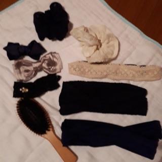 ムジルシリョウヒン(MUJI (無印良品))の無印頭皮ブラシ&ヘアアクセサリー8個セット(バレッタ/ヘアクリップ)