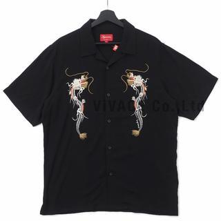 シュプリーム(Supreme)のSupreme Dragon Rayon Shirt 黒L(シャツ)