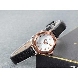 【在庫処分大SALE】 腕時計 レデイース 黒 レザーベルト オフィスカジュアル(腕時計)