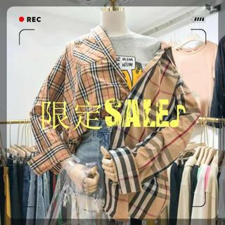 ❤新品❤限定SALE♪ オルチャン タータンチェック シャツ ツギハギ(シャツ)