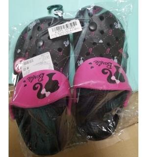 Barbie - バービー クロックス風 サンダル 黒 22