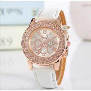 MB009  送料無料♪ 白×ピンクゴールドビジュー時計 レディエミリアウィズ(腕時計)