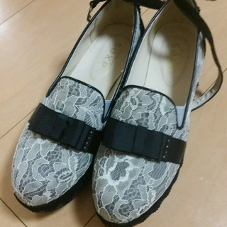 アクシーズファム(axes femme)のaxes femme 黒白レース 靴(ローファー/革靴)