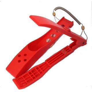 魚つかみ 赤 ホルダー ロープ付 手が汚れないアジングに(その他)