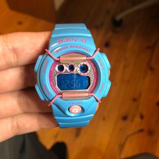 ベビージー(Baby-G)のbaby-g 腕時計 水色 ブルー レア(腕時計)