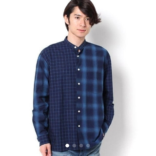 ナノユニバース(nano・universe)のナノ・ユニバース クレイジーバンドカラーシャツ(シャツ)