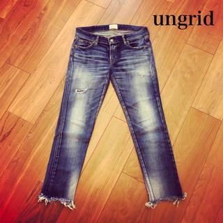 アングリッド(Ungrid)のungrid❤︎フレイドヘムストスリ(デニム/ジーンズ)