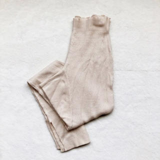 トゥデイフル(TODAYFUL)のthermal rib leggings écru(レギンス/スパッツ)