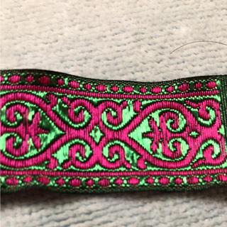 刺繍テープ チロリアンテープ 切り売り 50cm 新品 グリーン ハンドメイドに(各種パーツ)