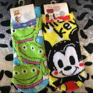 ディズニー(Disney)の新品★ふわもこ靴下★23~25cm(ソックス)