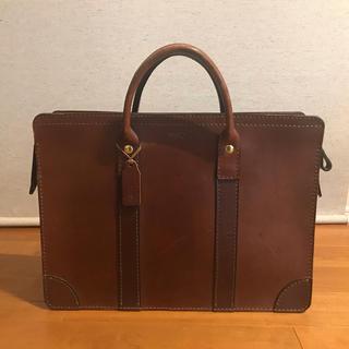 ヘルツ(HERZ)のHerz 二本手 ビジネス バッグ BW-24 チョコ 本革 バック(ビジネスバッグ)