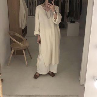 新品タグ付き☆ argue  cashmere/wool blend dress(ロングワンピース/マキシワンピース)