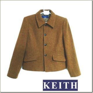 キース(KEITH)のKEITH◆オレンジブラウン系ウール織り込み調ジャケット◆レナウンルック◆M位(テーラードジャケット)