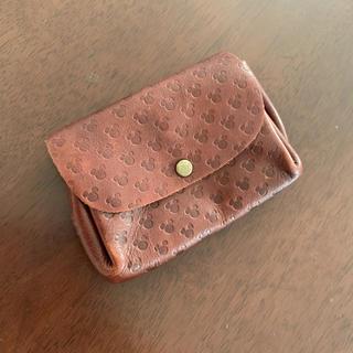ディズニー(Disney)の本革 ビンテージ ミッキー 財布 ケース 皮 ディズニー(財布)