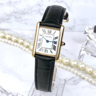 カルティエ(Cartier)の【OH済/ベルト新品】 カルティエ タンク MM ゴールド レディース 時計(腕時計)