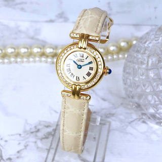 カルティエ(Cartier)の【OH済/仕上済】 カルティエ コリゼ ダイヤ ゴールド レディース 腕時計(腕時計)