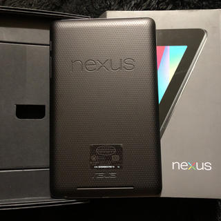 ネクサス7(NEXUS7)のnexus7 2012 ジャンク 本体のみ 箱希望者のみ(タブレット)