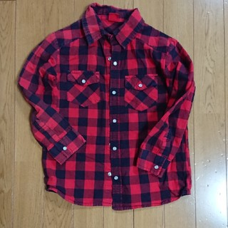 スキップランド(Skip Land)のチェックシャツ 赤×黒 120 スキップランド(ブラウス)