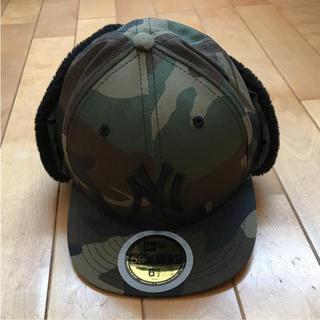ニューエラー(NEW ERA)のニューエラ  迷彩防寒耳当て付きキャップ 新品未使用(帽子)