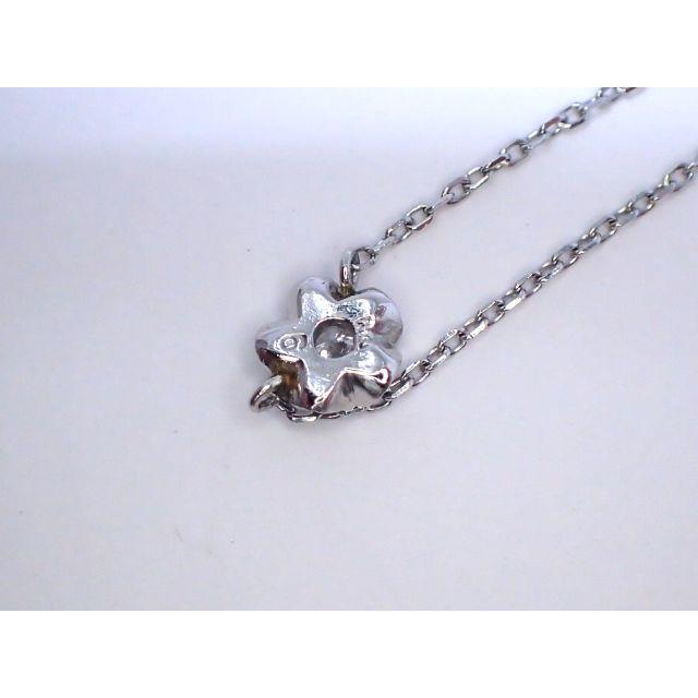 ■マルヨ質舗■Pt850/Pm■立体フラワーダイヤモンドプラチナネックレス■ レディースのアクセサリー(ネックレス)の商品写真