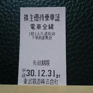 東武鉄道 株主優待乗車証(鉄道乗車券)