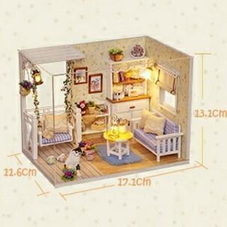 ドールハウス 手作りキットセット 子猫日記(ミニチュア)