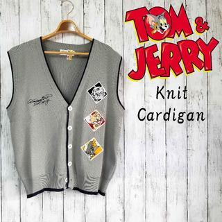 カステルバジャック(CASTELBAJAC)の【一点物】トム&ジェリー デザインニットベスト Mサイズ 刺繍(ニット/セーター)