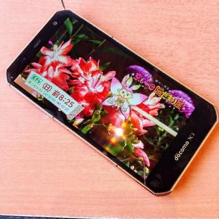 フジツウ(富士通)のARROWS NX オレンジ F02G FUJITSU 名機 ドコモ (スマートフォン本体)