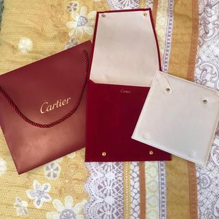 カルティエ(Cartier)の未使用 カルティエ ネックレスケース ショッパー 非売品(ショップ袋)