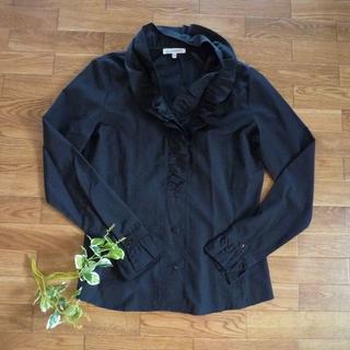ナラカミーチェ(NARACAMICIE)のナラカミーチェ フリル ブラウス シャツ 黒(シャツ/ブラウス(長袖/七分))