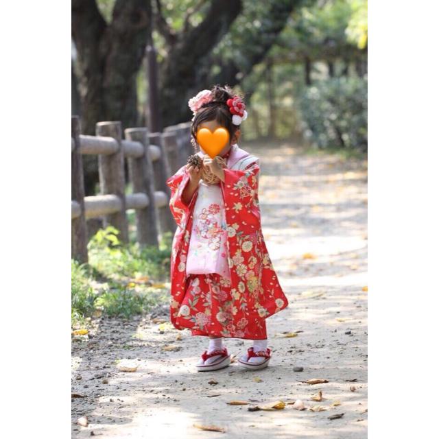 七五三 3歳*正絹 被布セット キッズ/ベビー/マタニティのキッズ服 女の子用(90cm~)(和服/着物)の商品写真