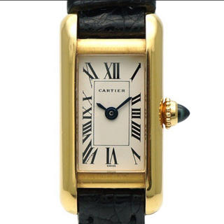カルティエ(Cartier)の正規品 カルティエ タンクアロンジェ K18YG 革ベルト(腕時計)