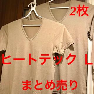ユニクロ(UNIQLO)のドリー様①まとめ売り ユニクロ ヒートテック メンズ L 2枚 半袖(その他)