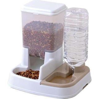 ペット用自動給餌器 給水器 ホワイト