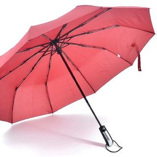 セール 折り畳み傘 ワンタッチ自動開閉 10本骨 1.05m 晴雨兼用 レッド(傘)