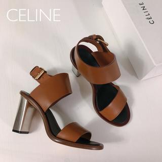 celine - 【美品】CELINE バンバンサンダルメタヒール フィービー ミュール レザー