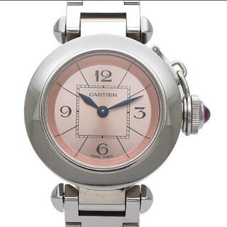 カルティエ(Cartier)の正規品 カルティエ ミス・パシャ  ステンレススチール クォーツ ピンク(腕時計)
