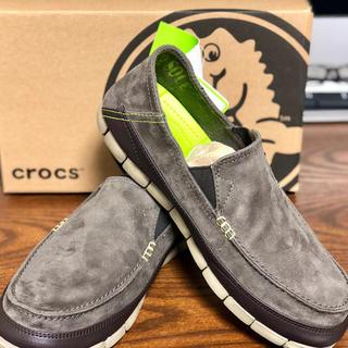 クロックス(crocs)のクロックス stretch sole microsuede loafer men(スニーカー)