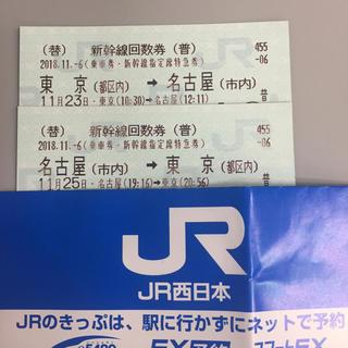 ジェイアール(JR)の【明日午前まで】東京⇆名古屋 新幹線チケット(鉄道乗車券)