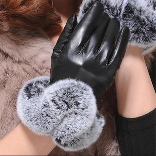 ザラ(ZARA)の海外インポートファー付き手袋(手袋)