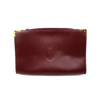 カルティエ(Cartier)の【カルティエ】 マストライン セカンドバッグ ボルドー(クラッチバッグ)