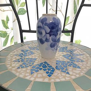 オオクラトウエン(大倉陶園)の未使用❤︎大倉陶園 ブルーローズ 花瓶(花瓶)