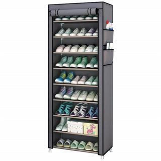 シューズラック カバー付き 下駄箱 組み立て式 靴収納(玄関収納)