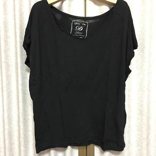 デュレル(Durer)のDURER 切りっぱなし 黒 Tシャツ(Tシャツ(半袖/袖なし))