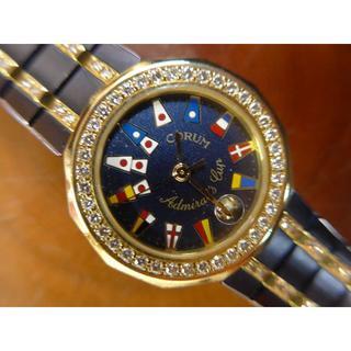 コルム(CORUM)のコルム ・アドミラルズカップ ダイヤK18YG ガンブルー レディース(腕時計)