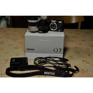 ペンタックス(PENTAX)のPENTAX Q7 ダブルズームキット ブラック(ミラーレス一眼)