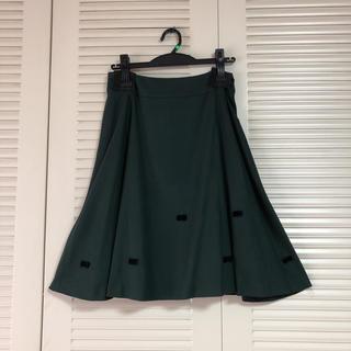 ギャラリービスコンティ(GALLERY VISCONTI)のリボンモチーフフレアスカート サイズ2 未使用品 ギャラリービスコンティ (ひざ丈スカート)