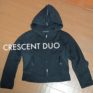 クレッシェント(CRESCENT)の【crescent duo クレッシェントデュオ】フード付き ジャケット 黒 M(ブルゾン)